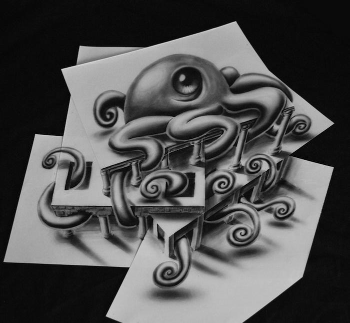 Объемные рисунки карандашом от Рамона Брюина (Ramon Bruin)