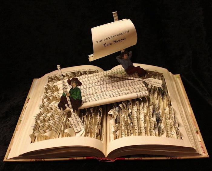 Скульптура по мотивам книги о приключениях Тома Сойера