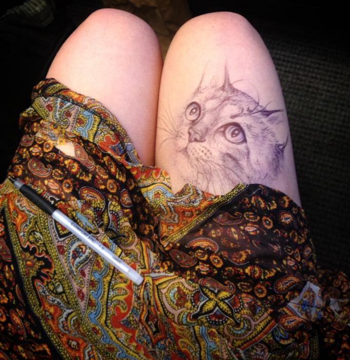 Рисунки на коленях от Jody Steel