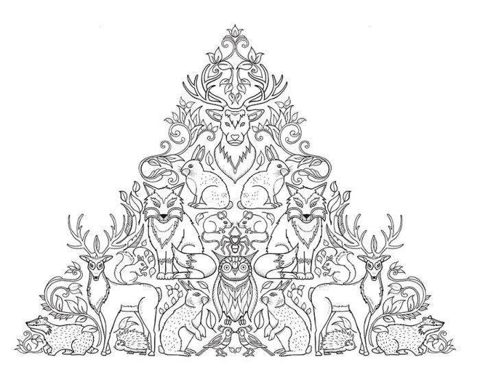 Анималистические мотивы в творчестве Джоанны Басфорд (Johanna Basford)