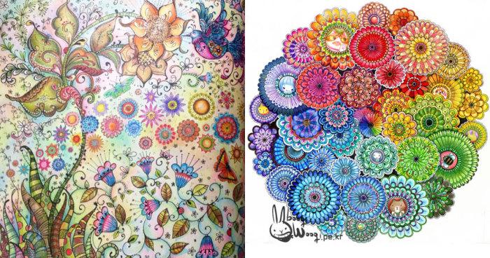 Раскраски Джоанны Басфорд (Johanna Basford) в цвете