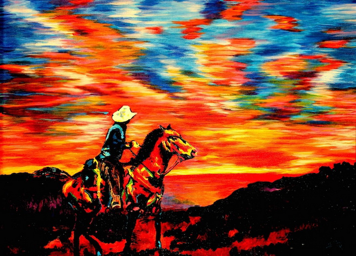 Красочные картины слепого художника Джона Брамблитта (John Bramblitt)