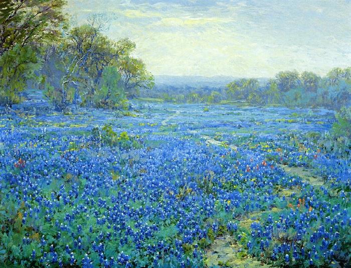 Голубые люпины на картинах Роберта Джулиана Ондердонка