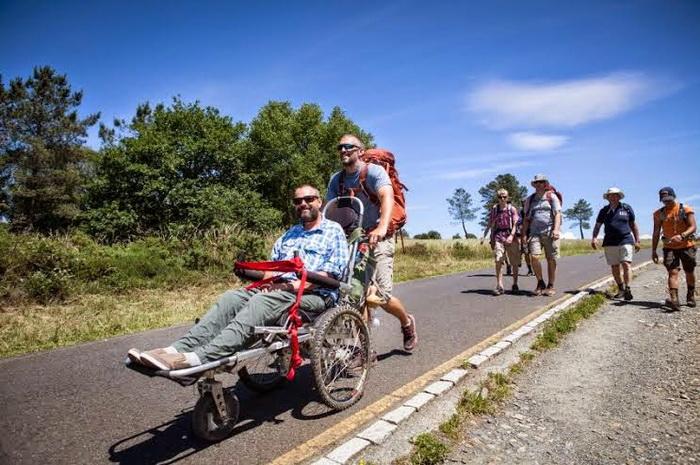 Путь Святого Иакова на инвалидной коляске.