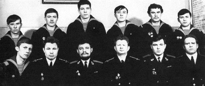 Личный состав 10-го аварийного отсека АПЛ. 1972 г.