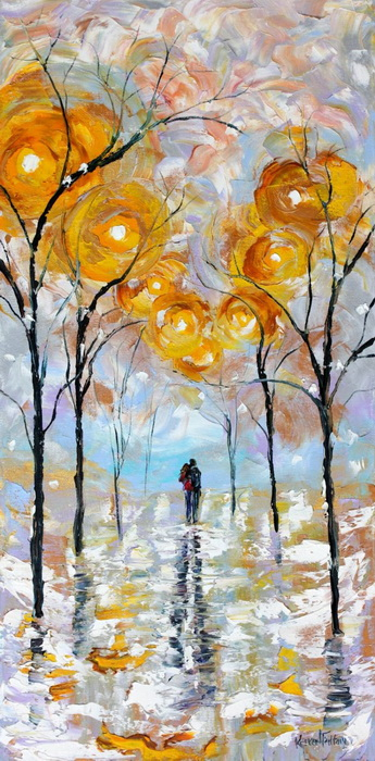 Влюбленные пары на картинах Карен Тарлтон