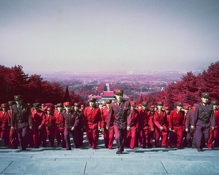 Офицеры Корейской народной армии.
