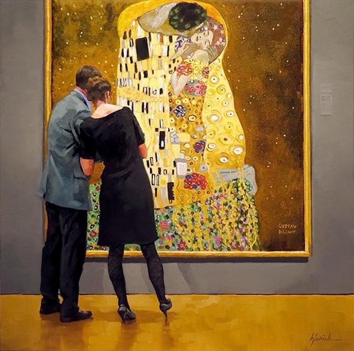 Поцелуй. Автор: Густав Климт