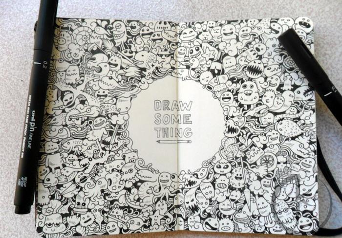 Рисунки, нарисованные сотнями других рисунков. Работы Kerby Rosanes