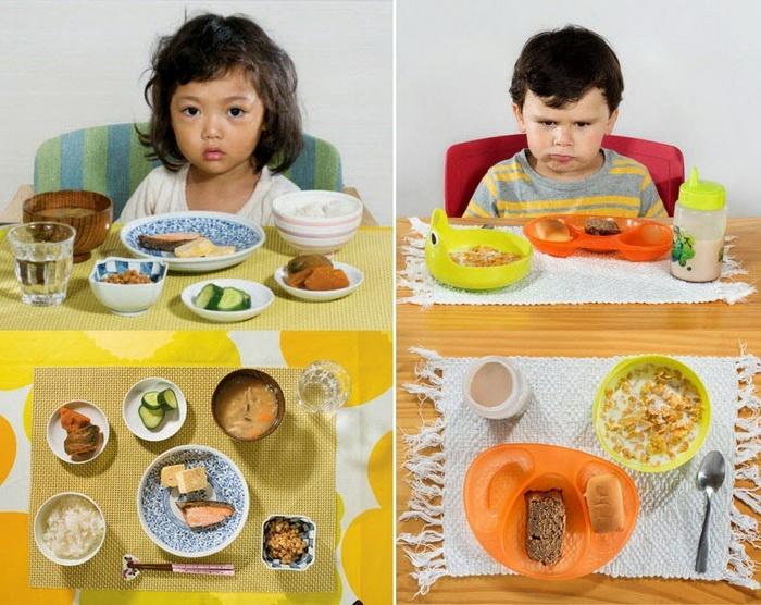 Завтраки детей из разных стран мира: фотоцикл от Ханны Уайтэйкер (Hannah Whitaker)
