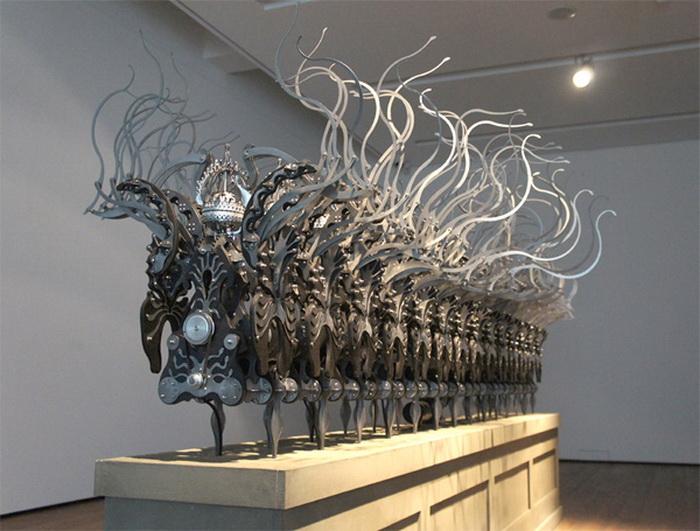 Кинетическая скульптура южно-корейского художника Лайми Янг