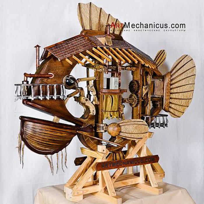 Кинетическая скульптура от художественной группы ArtMechanicus