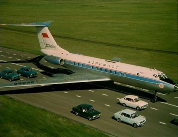 Приземление самолета на трассу