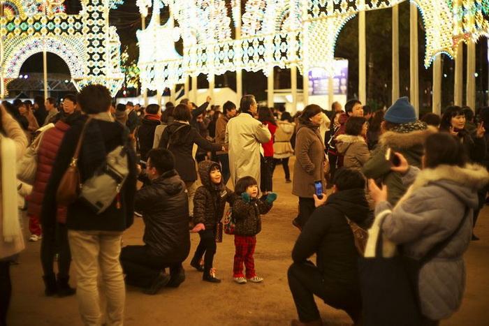 Фестиваль огней в Кобе (Япония)