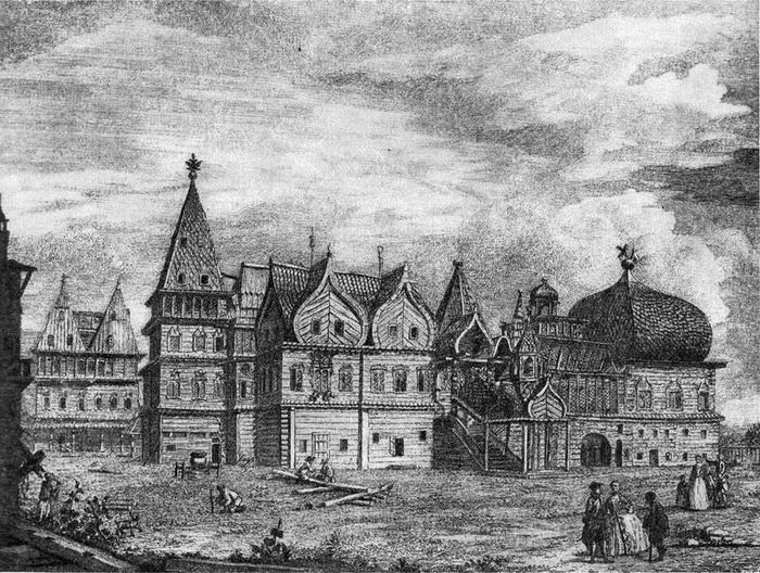 Коломенский дворец. Изображение, датируемое 18 веком
