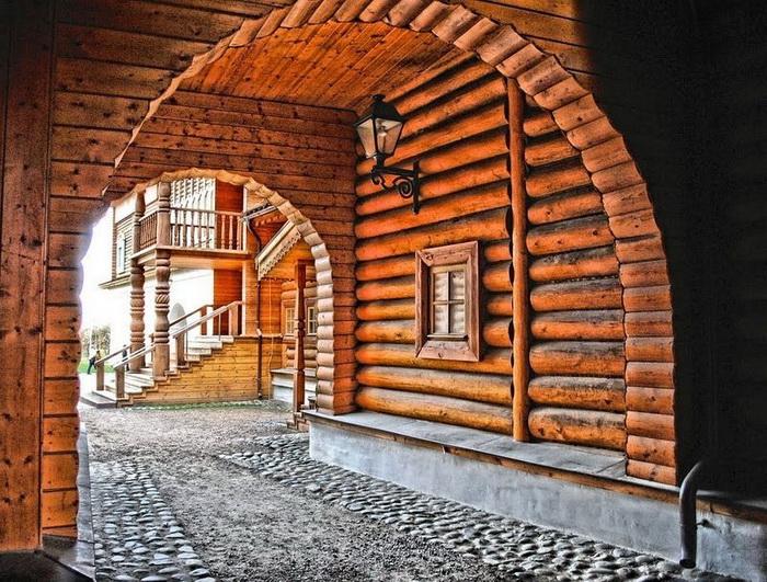 Деревянные арки и переходы