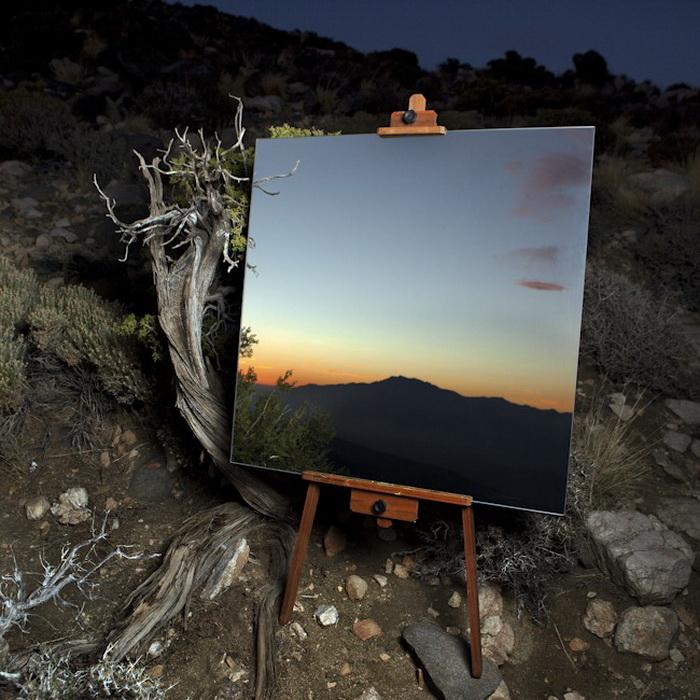 Зеркала-мольберты в фотопроекте Daniel Kukla