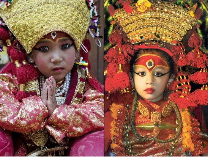 Кумари - земные богини Непала