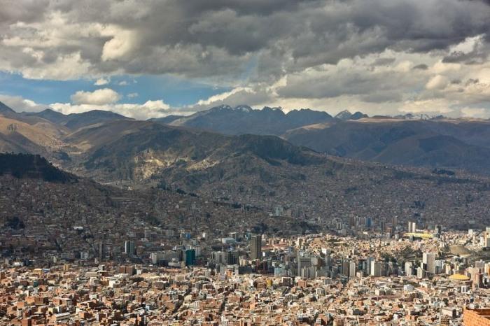 Горный ландшафт *второй* боливийской столицы Ла-Пас