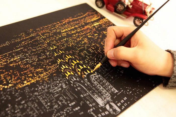 Скретч-арт: новый вид творчества, набирающий популярность в Южной Корее