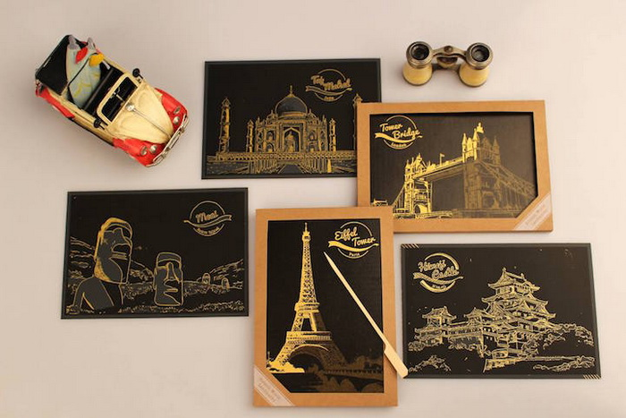 Раскрашивать и путешествовать!Скретч-арт вдохновляет!