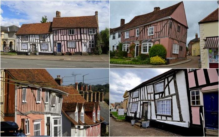 Кривые дома в деревушке Лавенхэм (Англия)