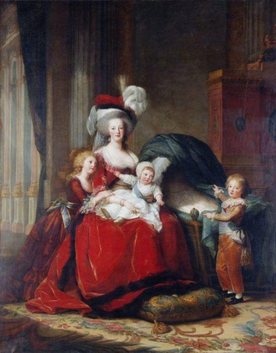 Портрет Марии Антуанетты с детьми.