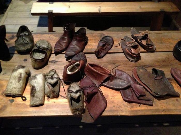 Обувь викингов - музейный экспонат.