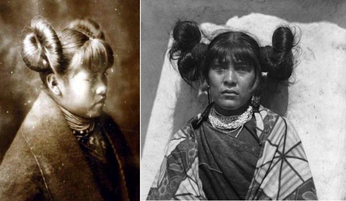 Прически женщин народа хопи.