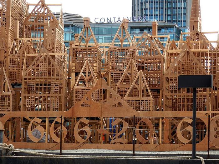 Деревянный макет, созданный к годовщине 350-летия со дня великого пожара