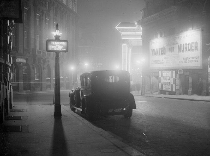 Центр Лондона, январь 1936 года