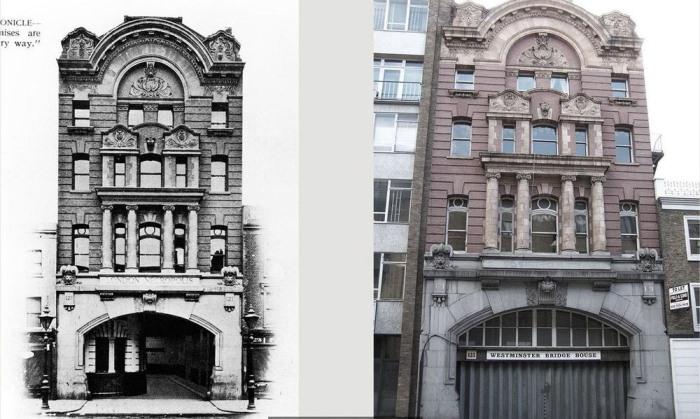 Вход на железнодорожную станцию: 1902 год и современность