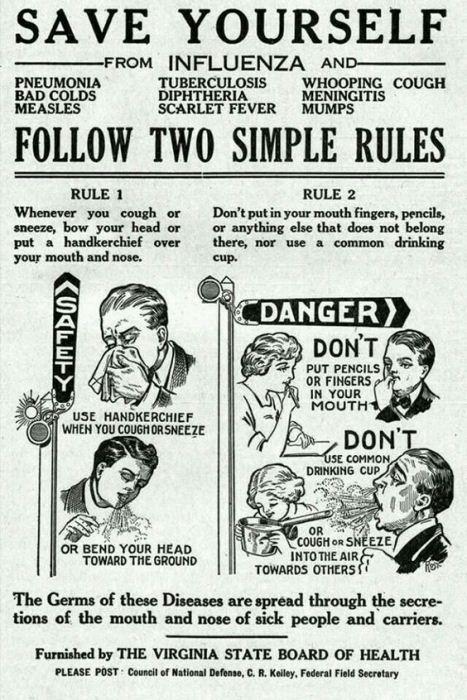 Инструкция, как должны себя вести заболевшие жители города.