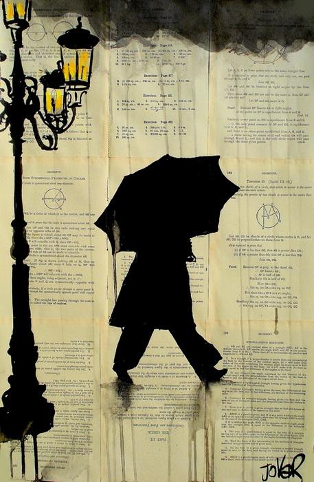 *Дождливые* чернильные рисунки от Loui Jover