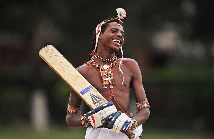 Крикет-воины африканского племени масаи