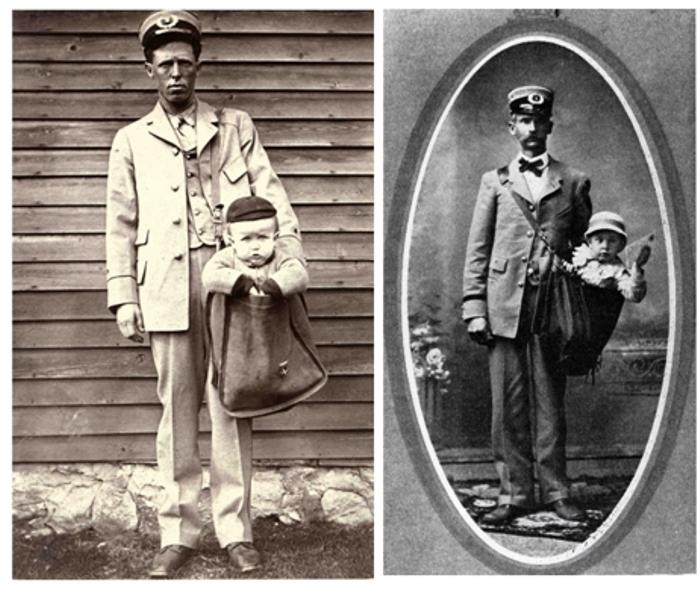 В 1910-е годы американцы успешно пересылали детей по почте.