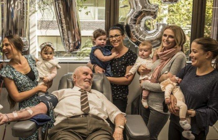 Джеймс Харрисон - донор, которому удалось спасти 2,4 млн жизней.