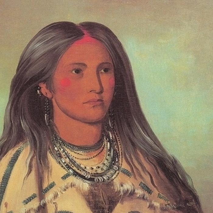 Портрет женщины из племени мандан