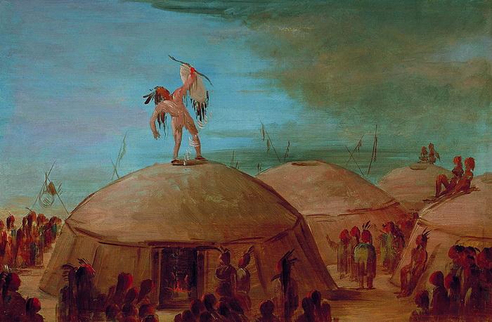 Типичные жилища племени мандан