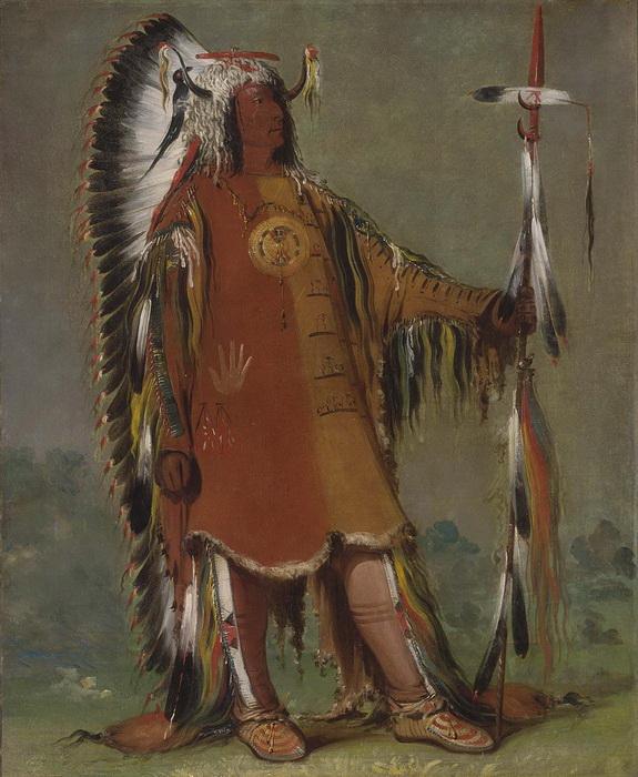 Индеец из племени мандан