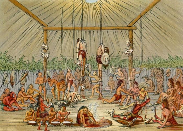 Жестокий и болезненный обряд инициации в племени мандан