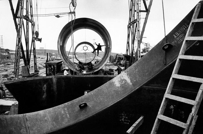 Турция, 1955. Строительство плотины ГЭС в провинции Адана