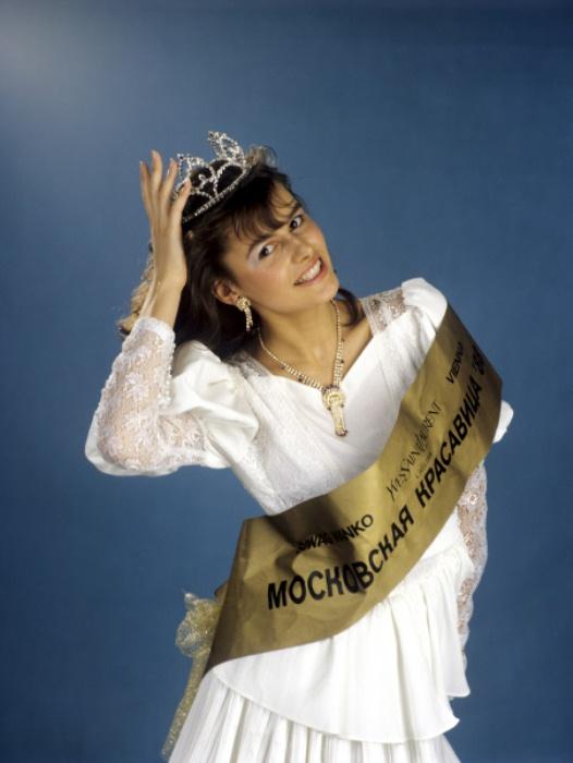 Мария Калинина на конкурсе *Московская красавица*