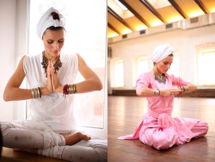 Мария Калинина посвятила себя йоге