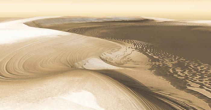 Каньон Северный в северной полярной шапке Марса