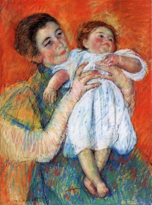 *Ребенок босиком*. Работа Мэри Кэссетт. 1897 г.
