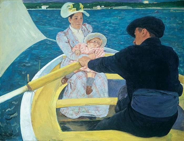 *Прогулка на лодке*. Работа Мэри Кэссетт. 1893-1894 гг.