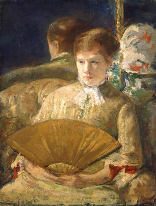 *Женщина с веером*. Работа Мэри Кэссетт. Ок. 1878-1879 гг.