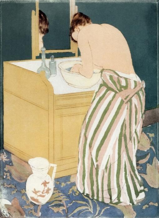 *Женщина купается*. Работа Мэри Кэссетт. 1890-1891 гг.