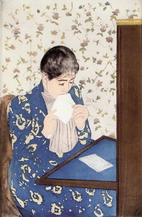 *Письмо*. Работа Мэри Кэссетт. 1890-1891 гг.